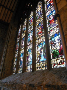 In the Black Abbey, this stained glass window presents the Mysteries of the Rosary in a breathtaking way.