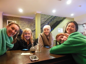 At the Cafe with these gorgeous ladies. We were all pretty tired after a day of exploration.