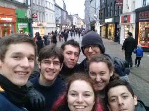 Despite it being blurry, this was us in Galway our first day! (Carlos joined us later)
