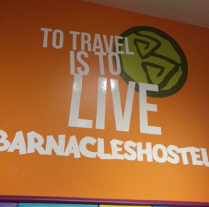 This was on the kitchen wall of the Barnacles Hostel in Galway. Loved it!