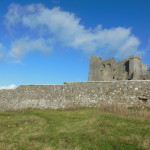 We walked all the way around the Rock of Cashel, and the other side afforded a view with less construction.