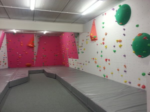 The bouldering section of the climbing area! All new holds was heaven...but hell for my hands.