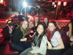 Love these girls! Had such a fun night at Kazbars, even if there was some weird guy awkwardly dancing at our table...