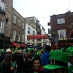 The infamous Temple Bar of Dublin on St. Paddy's.
