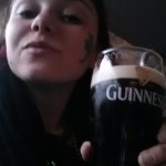 I drank a pint o' Guinness for the celebrations. When in Ireland... (sorry for the cheesy pose with booze...)
