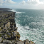 The cliffs and views along Dun Aengus were amazing! Unlike the Cliffs of Moher, you could walk right up to the edge.