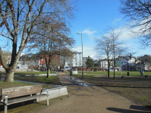 Eyre Square in Galway. Where we began our tour.