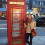 Typical tourist photo with the infamous telephone box.