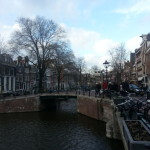 The canals of Amsterdam are beautiful.