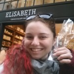 Buying some Belgian chocolate in Brussels!