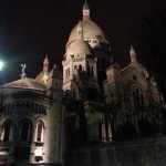 Sacre Coeur on our first night in Paris.
