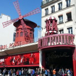 We wandered to see the Moulin Rouge theatre!