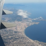 The view of Nice from the airplane was beautiful!