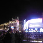 Piccadilly Circus and a station to the underground.