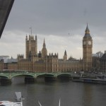 View of Big Ben while on the London Eye. Despite the clouds and sprinkling of rain, it was amazing.