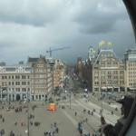Dam Square, the large main square of the city of Amsterdam. (View from Madame Tussauds)