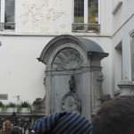 Mannekin Pis in Brussels is a lot smaller than you would think. And he's the 3rd famous statue in the world...