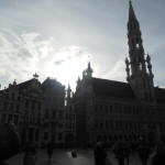 Grand Place, Brussels. That building isn't symmetrical, but if you don't know that then it's beautiful.