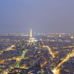 Paris at night from the top of Montparnasse.
