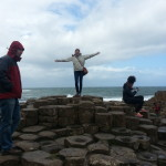 I am on top of the world at Giant's Causeway! (So many tourists though...)