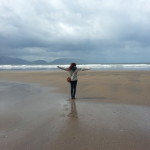 Inch Beach - far longer than an inch, stretching far into the distance. The tide was out and it was amazing.