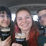 """It's a lovely day for a Guinness!"" Got to pull our own pints."