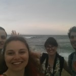 At Barceloneta Beach before the storm came in full force.