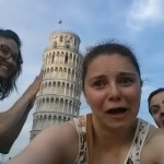 Kirstin tried to push the tower onto us... it was quite terrifying...