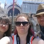 Selfie in Piazza San Marco with the scaffolding...