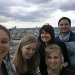 Selfie with a view of the entire city of Vienna, and the amazing girls who showed us around!