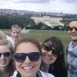 View of Schoenbrunn from the opposing hillside of the grounds. And some cool people, too!
