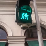 The crossings in Vienna were so cute! Saw this one & one with 2 women - making a statement! Loved it.