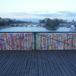 This is all the remains of the Love Lock Bridge, artwork.