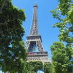 The Eiffel Tower. For the French Open, there was a giant tennis ball hanging from the center.