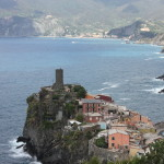 The beautiful town of Vernazza on our hike through Cinque Terre.