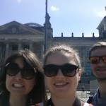 Selfie in front of the Reichstag in Berlin.