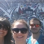 Selfie in front of some amazing artwork at the East Side Gallery in Berlin!