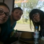This was before our train ride from Berlin to Amsterdam went downhill... don't we look happy!?