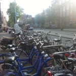 The bikes everywhere in Amsterdam really make the atmosphere.