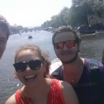 My amazing friends and brother with the beautiful Amsterdam canals.