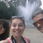 The beautiful fountain in Brussels Park.
