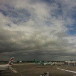 Flying out of the Dublin airport, the sky looked a little sketchy. But I survived!
