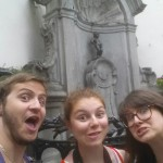 Silly selfie with Mannekin Pis. Love it!