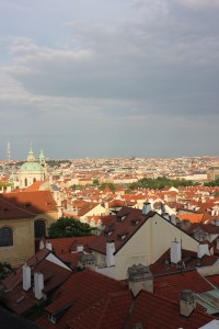 The amazing views from the castle grounds in Prague. I fell in love with this city the first night I was there.