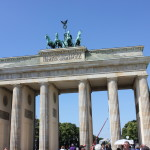 Brandenburg Gate, our first sight in Berlin.