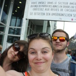 Bad selfie in Checkpoint Charlie. It was so interesting to see.