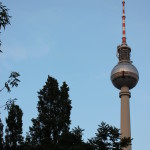 The TV Tower in Berlin.