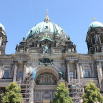 The Berliner Dom, the cathedral in Berlin. Of course, under construction but still beautiful!