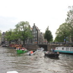 The canal in front of the Anne Frank House. There were so many boats!
