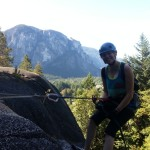 Rappelling in Squamish with the beautiful Chief in the background!
